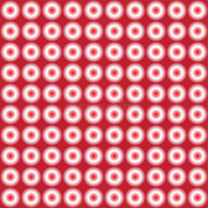 Wektorowy bezszwowy wzór czerwoni dyskotek światła ilustracja wektor