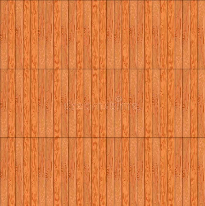 Wektorowy Bezszwowy wzór, Drewniana tekstura, Drewniany Niekończący się tło szablon ilustracji