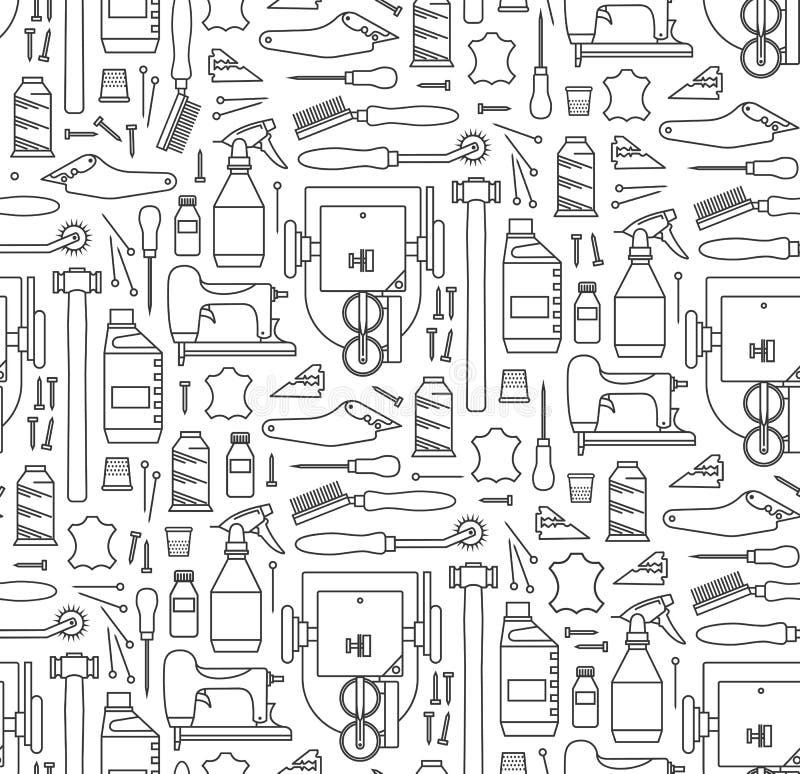 Wektorowy bezszwowy wzór futrzarza ` s narzędzia ilustracja wektor