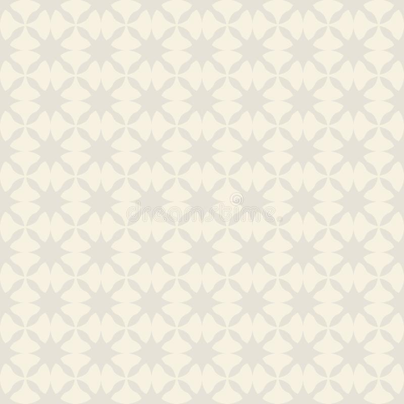 Wektorowy bezszwowy wzór geometryczne abstrakcjonistyczne gwiazdy ilustracji