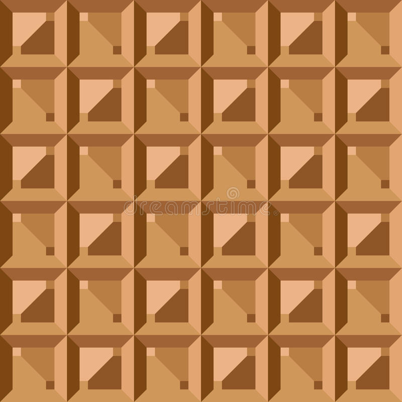 Wektorowy bezszwowy wzór - geometryczny rocznika kwadrat ilustracja wektor