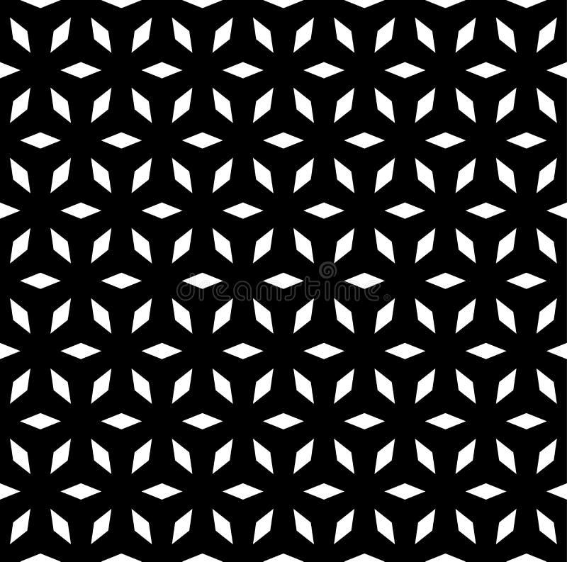 Wektorowy bezszwowy wzór, prosty geometryczny ornament ilustracji