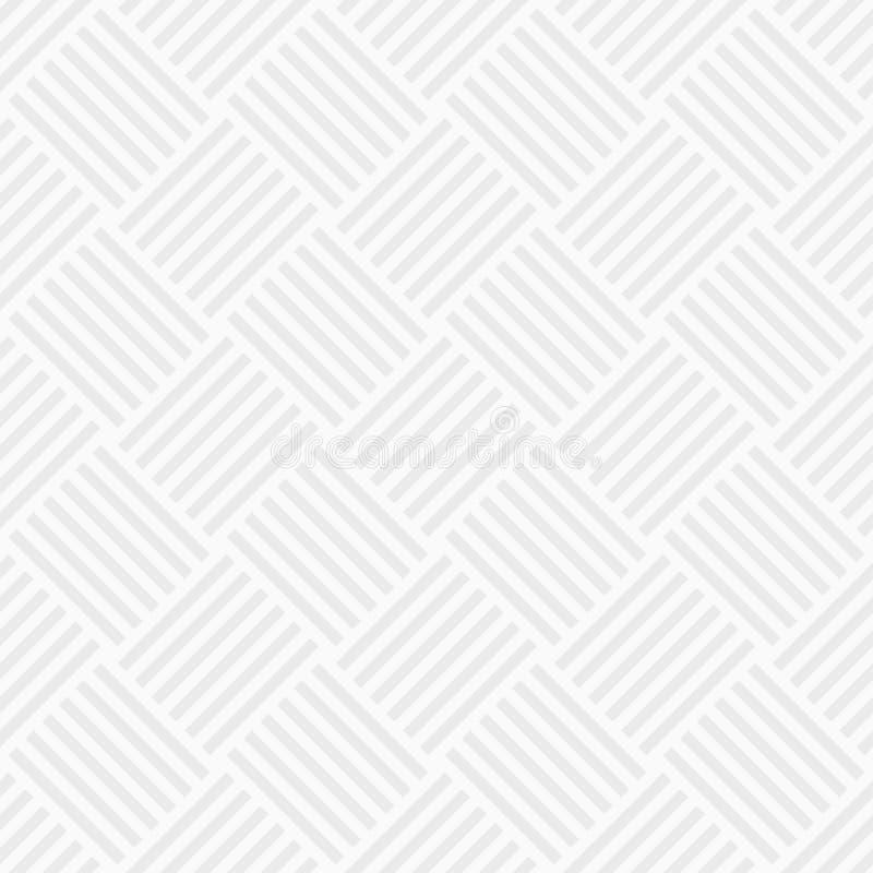 Wektorowy bezszwowy wzór przeplatani lampasy Biała i szara geometryczna tekstura nowożytna elegancka tekstura Regularnie powtarza ilustracja wektor