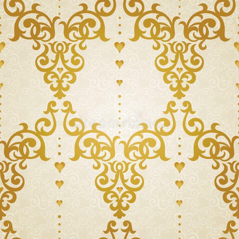 Wektorowy bezszwowy wzór w wiktoriański stylu royalty ilustracja