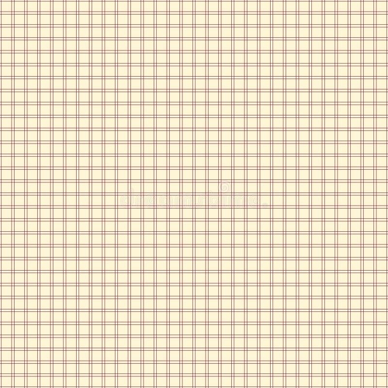 Wektorowy bezszwowy wzór z cienkimi liniami griddle royalty ilustracja