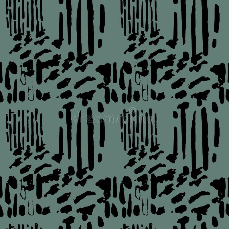 Wektorowy bezszwowy wzór z grunge ręka rysującą teksturą ilustracja wektor
