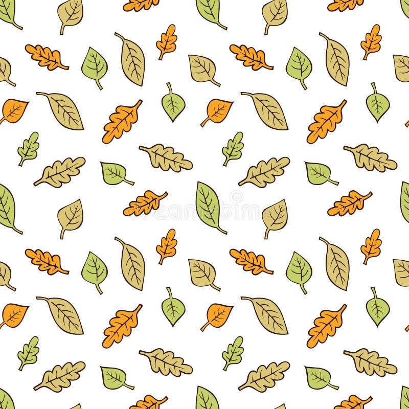 Wektorowy bezszwowy wzór z jesień liśćmi zdjęcia stock