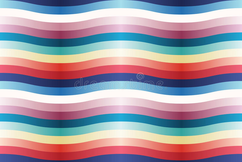 Wektorowy bezszwowy wzór z kolorów falistymi paskami. zdjęcie royalty free