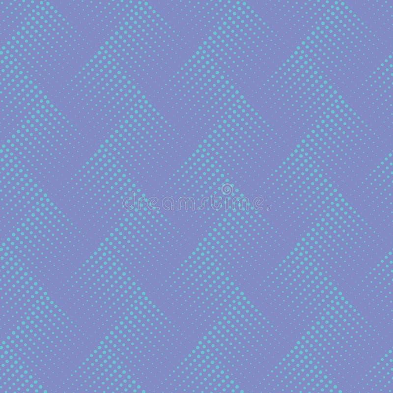 Wektorowy bezszwowy wzór z kropkami ornamentacyjny abstrakcyjne tło Niekończący się elegancka tekstura Okulistyczny złudzenie 3D  royalty ilustracja