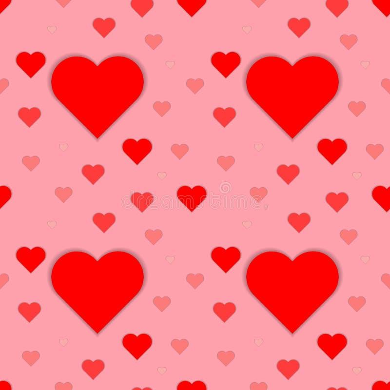 Wektorowy bezszwowy wzór z sercami Ukazuje się dla opakunkowego papieru, koszula, płótna, Digital papier ilustracja wektor