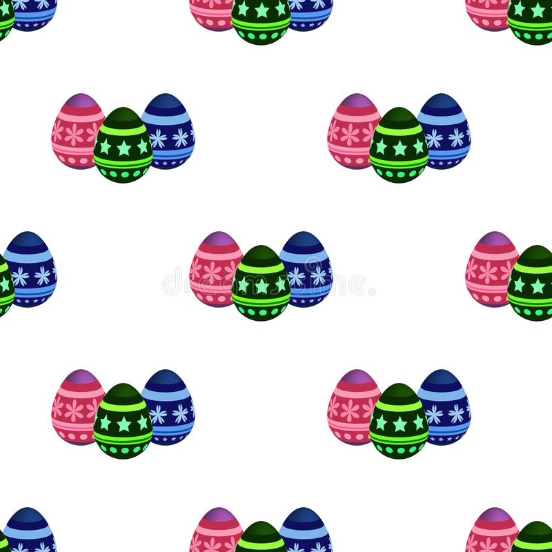 Wektorowy bezszwowy wzór z Wielkanocnymi jajkami Ukazuje się dla opakunkowego papieru, koszula, płótna, Digital papier royalty ilustracja