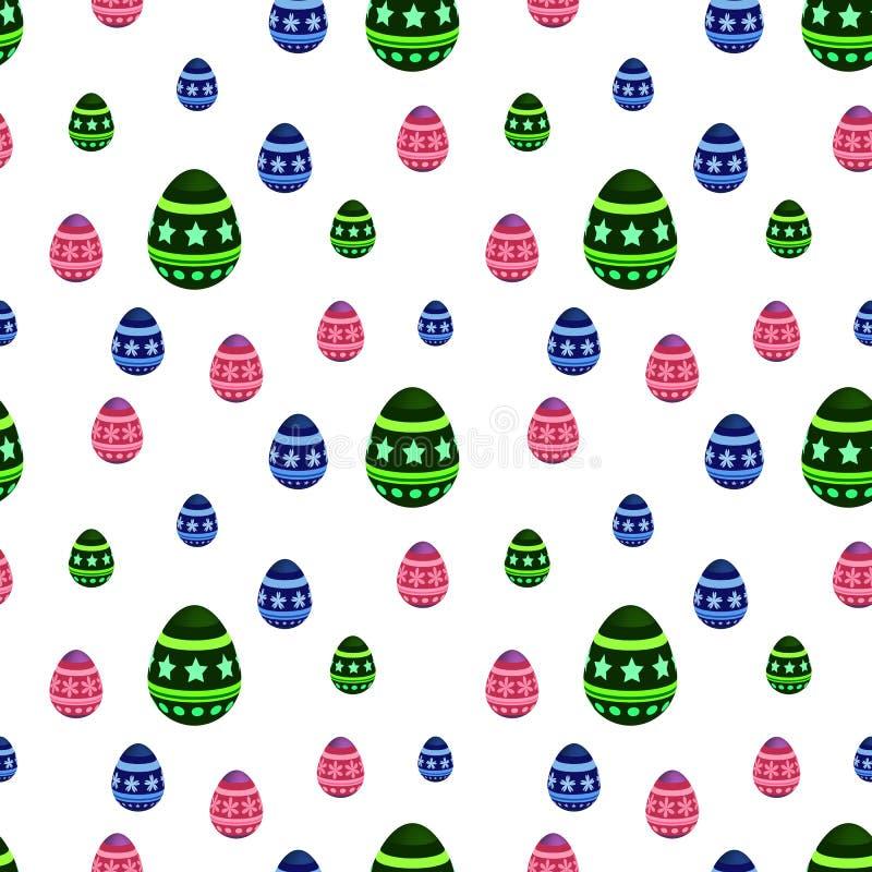 Wektorowy bezszwowy wzór z Wielkanocnymi jajkami Ukazuje się dla opakunkowego papieru, koszula, płótna, Digital papier ilustracja wektor