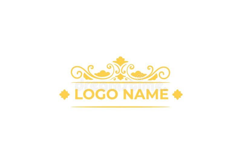 Wektorowy biżuteria logo projekt ilustracji