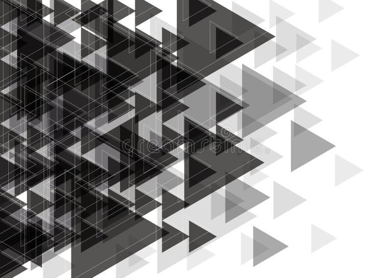 Wektorowy biały i czarny abstrakcjonistyczny tło projekt ilustracji