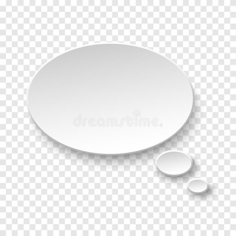 Wektorowy biały pustego papieru mowy bąbel zdjęcie stock