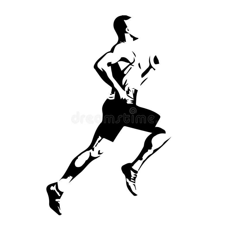Wektorowy biegacz royalty ilustracja