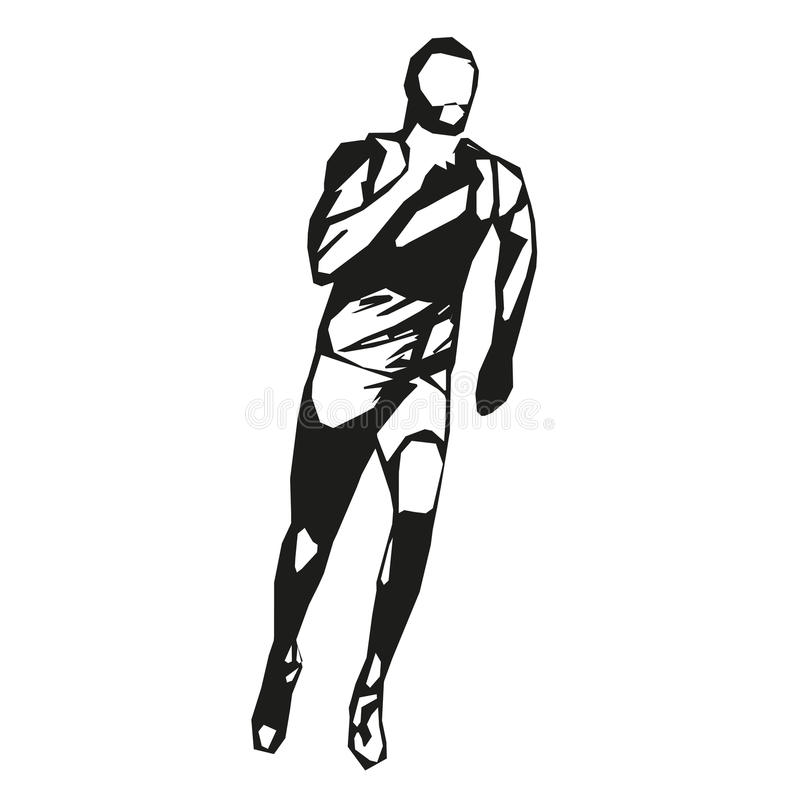 Wektorowy biegacz, szybkobiegacz royalty ilustracja