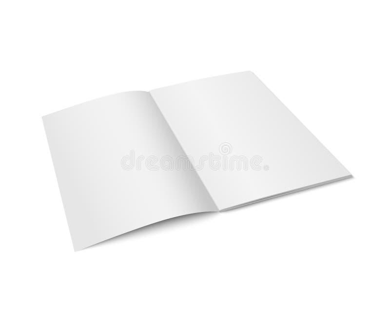 Wektorowy bielu egzamin próbny up magazyn odizolowywający ilustracja wektor