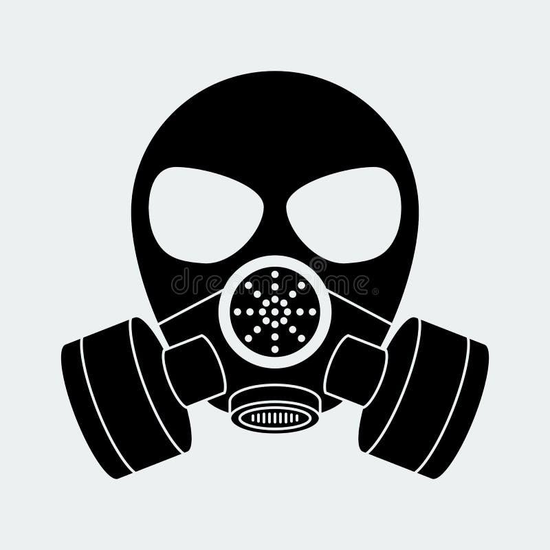 Wektorowy biohazard maski biel ilustracji