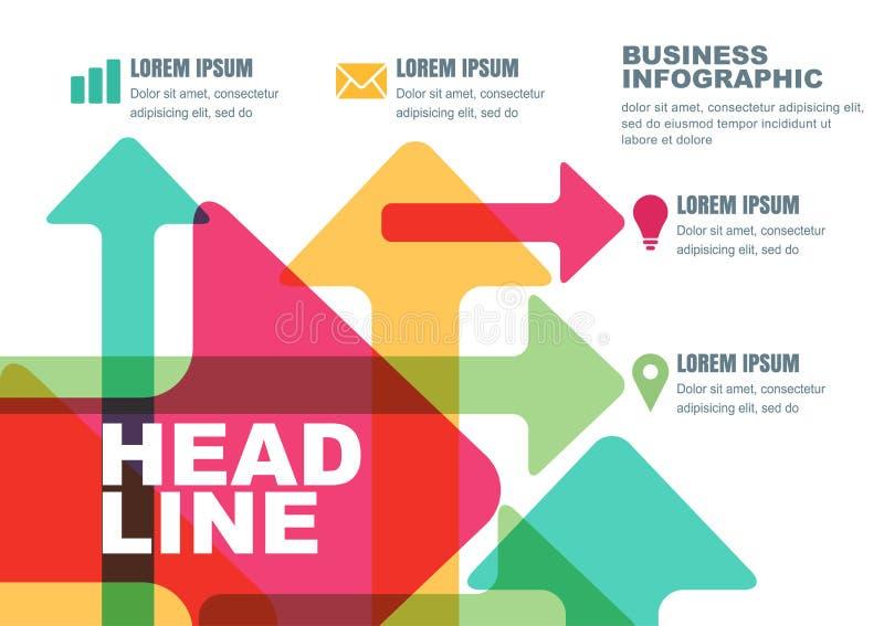 Wektorowy biznesowy szablon dla broszurki, ulotka, plakat, infographi royalty ilustracja