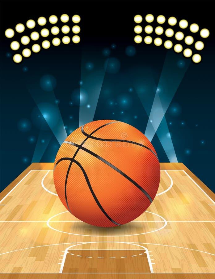 Wektorowy boisko do koszykówki royalty ilustracja