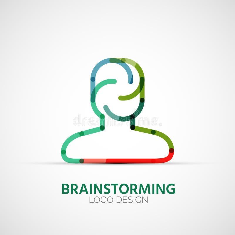 Wektorowy brainstorming firmy logo, businessconcept ilustracja wektor