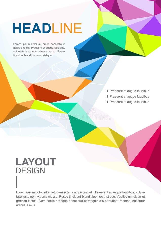 Wektorowy broszurka szablonu projekt, biznesowa communicarion reklama ilustracja wektor
