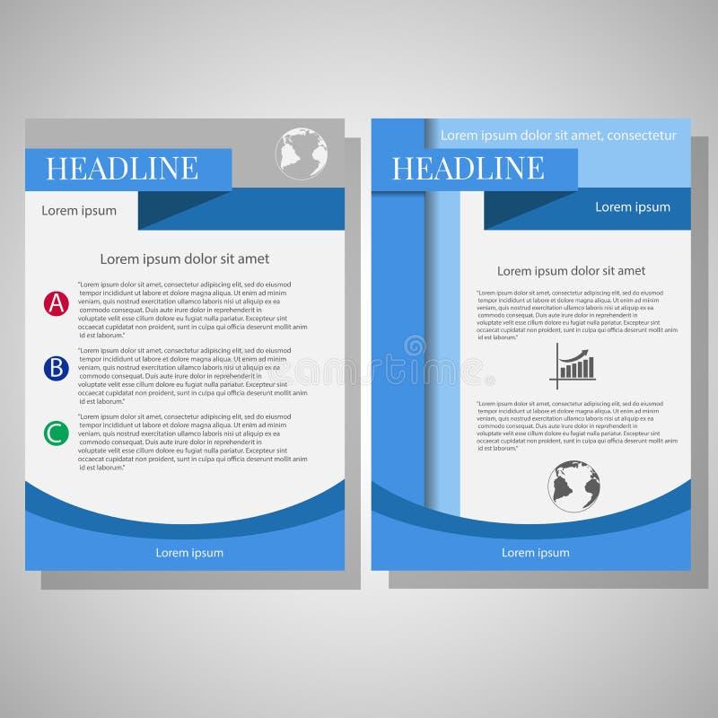 Wektorowy broszurki ulotki projekta układu szablon, wielkościowy A4 ilustracji