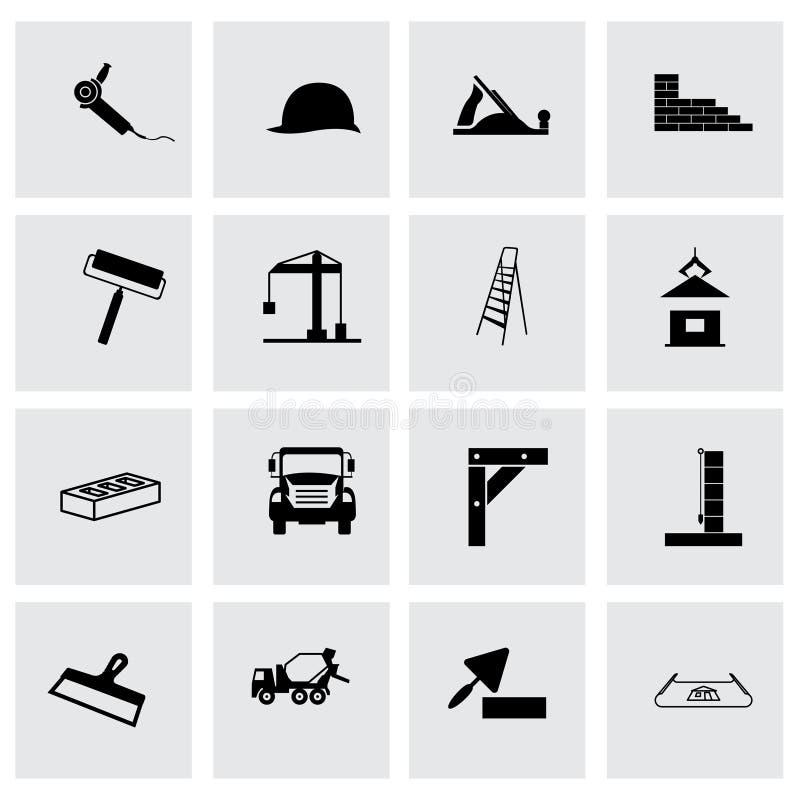 Wektorowy budowy ikony set royalty ilustracja