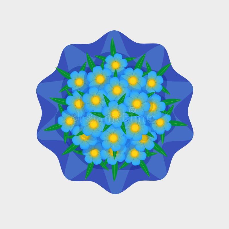 Download Wektorowy Bukiet Mali Kwiaty Ilustracja Wektor - Ilustracja złożonej z odosobniony, kwiecisty: 42525642