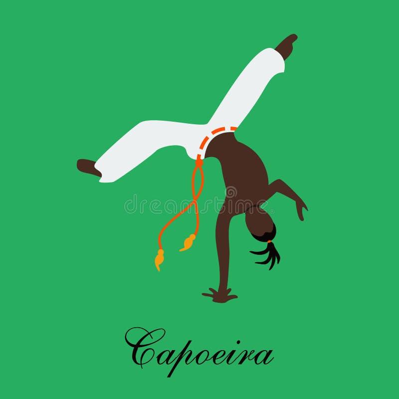 Wektorowy capoeira batizado ilustracja wektor
