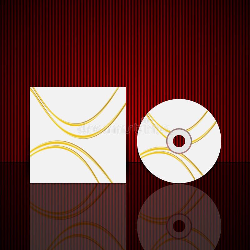 Wektorowy cd pokrywy projekta szablon royalty ilustracja