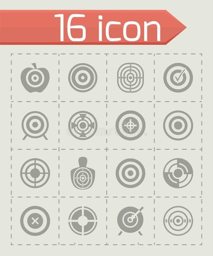 Wektorowy cel ikony set ilustracja wektor