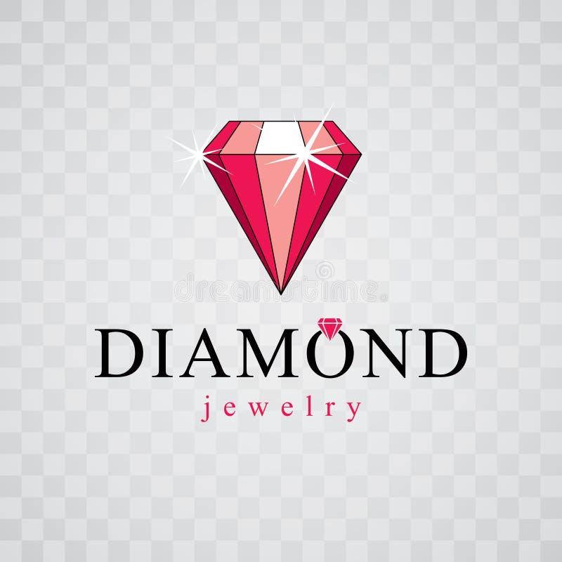 Wektorowy cenny dekoracyjny element, poligonalny Luksusowy diament si ilustracja wektor