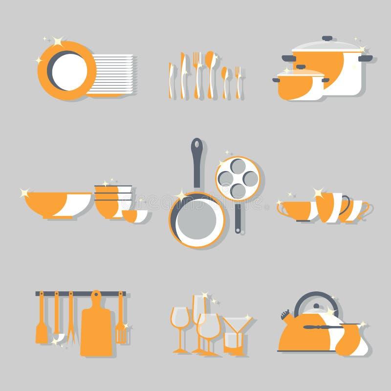 Wektorowy cookery set ilustracja wektor