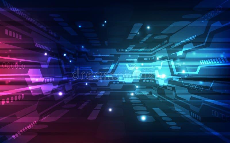 Wektorowy cyfrowy globalny technologii pojęcie, abstrakcjonistyczny tło royalty ilustracja