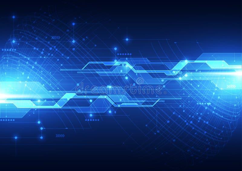 Wektorowy cyfrowy globalny technologii pojęcie, abstrakcjonistyczny tło ilustracja wektor