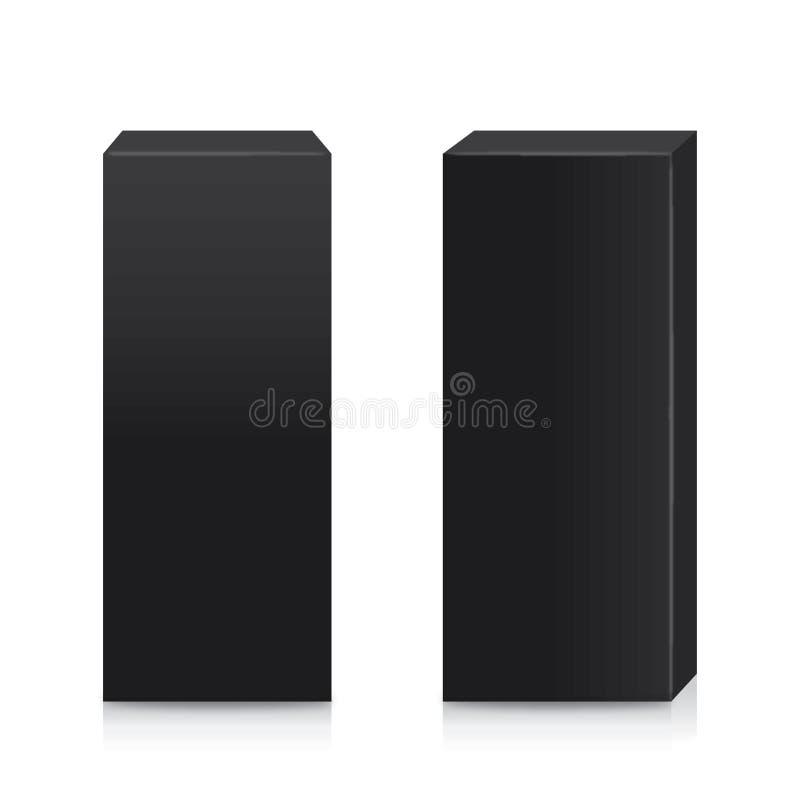 Wektorowy czarnego pudełka wysoki kształt royalty ilustracja