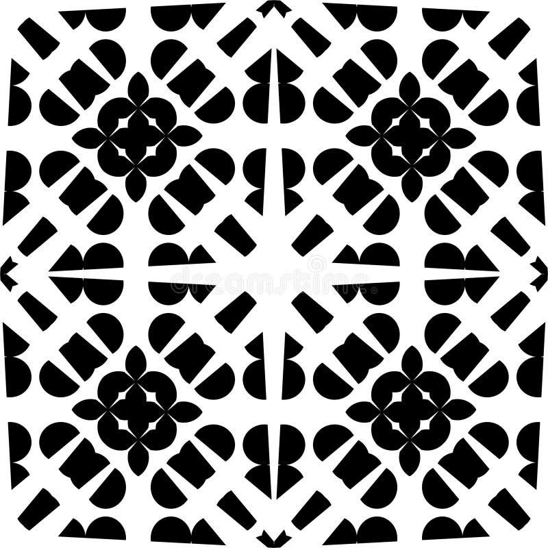 Wektorowy CZARNY bielu wzór ilustracji