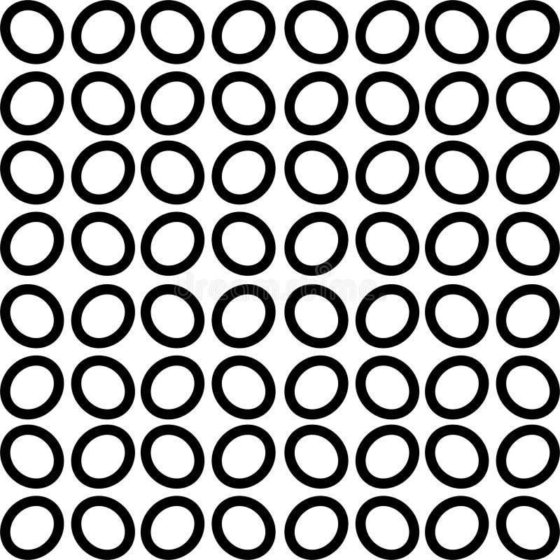 Wektorowy CZARNY bielu wzór ilustracja wektor