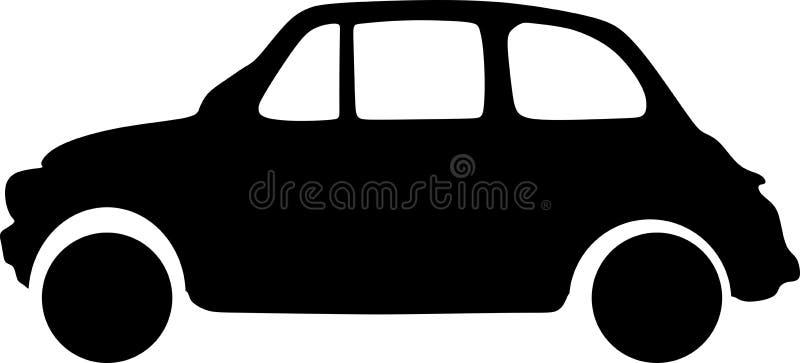 Wektorowy czarny luksusowy samochodu s nowożytny prosty ilustracji