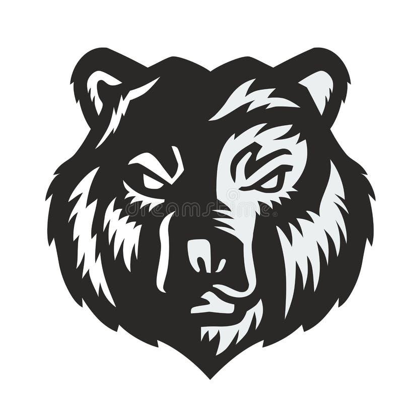 Wektorowy czarny niedźwiedź ilustracji