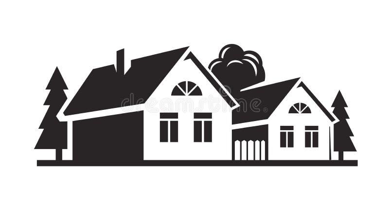 Wektorowy czerń dom ilustracja wektor