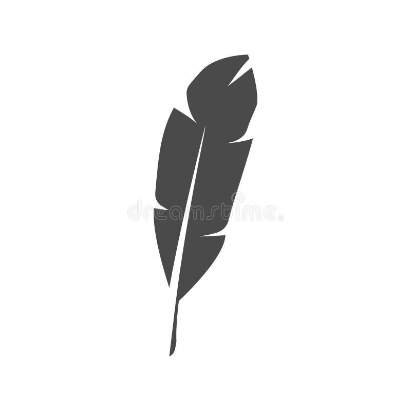 Wektorowy czerni piórka ikony projekt royalty ilustracja