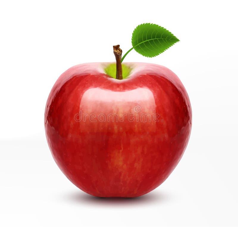 Wektorowy czerwony jabłko ilustracja wektor