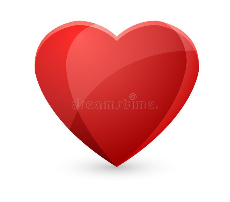 Wektorowy czerwony serce royalty ilustracja