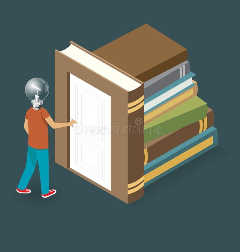 Download Wektorowy 3d Płaski Isometric Z Edukaci Pojęciem Ilustracja Wektor - Ilustracja złożonej z projektujący, mężczyzna: 57655207