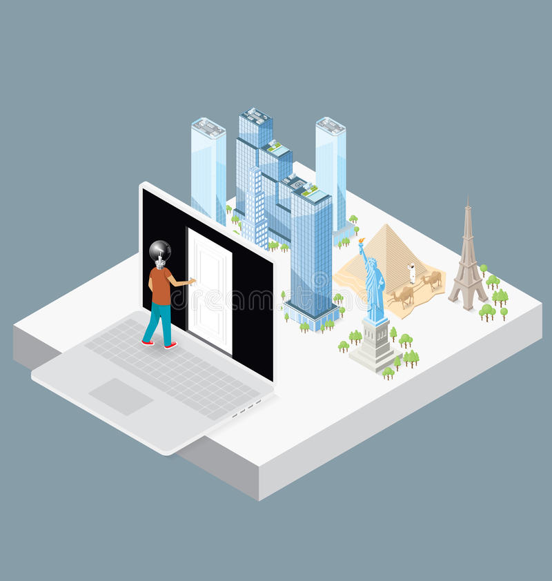 Download Wektorowy 3d Płaski Isometric Z Internetowym Pojęciem Ilustracja Wektor - Ilustracja złożonej z pomysł, edukacja: 57655297