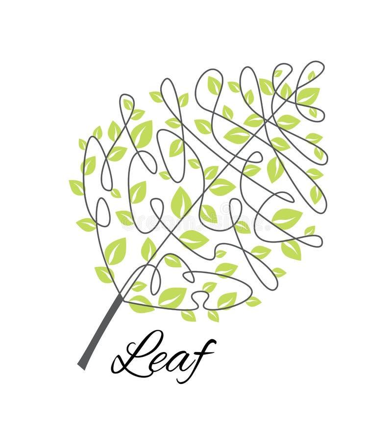 Wektorowy dekoracyjny liść ilustracji