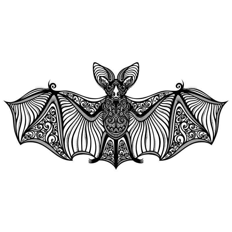 Wektorowy Dekoracyjny nietoperz royalty ilustracja